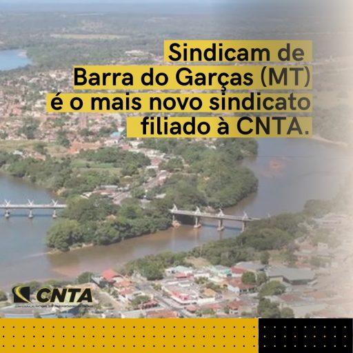 Sindicam Barra do Garças é o mais novo filiado à CNTA.
